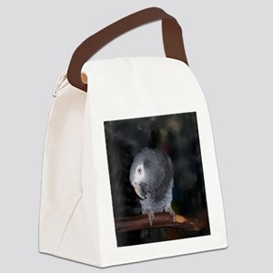 Timneh Africn Grey Canvas Lunch Bag