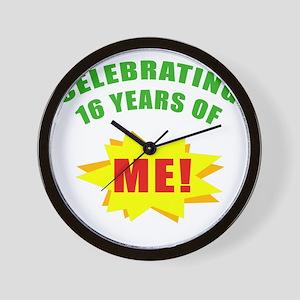 Celebrating Me! 16th Birthday Wall Clock