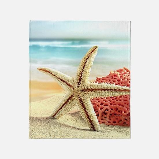 Summer Beach Throw Blanket