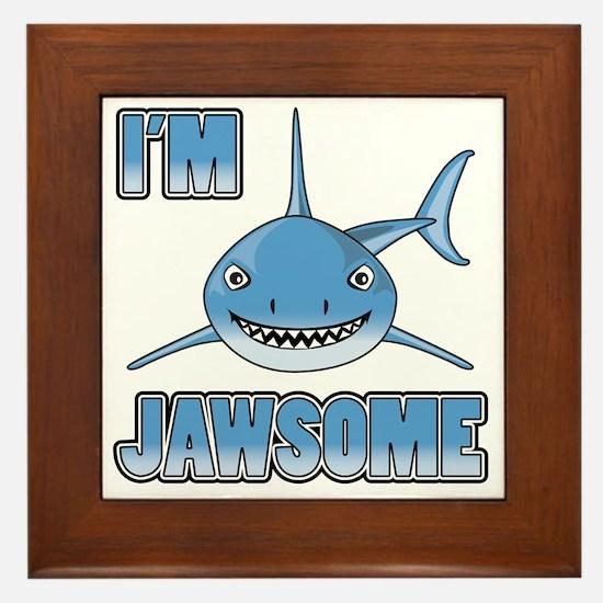Im Jawsome Framed Tile