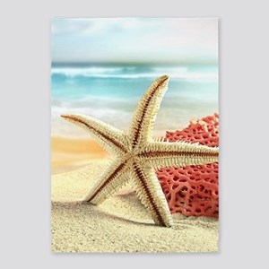 Summer Beach 5'x7'Area Rug