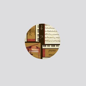 Piano Keys Music Song Clef Mini Button