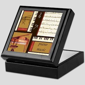 Piano Keys Music Song Clef Keepsake Box
