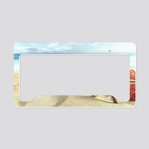 Summer Beach License Plate Holder