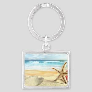 Summer Beach Landscape Keychain