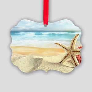 Summer Beach Picture Ornament