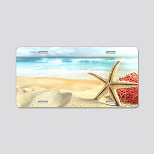 Summer Beach Aluminum License Plate