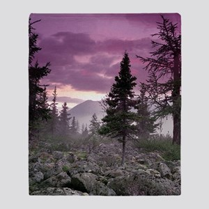 Beautiful Forest Landscape Throw Blanket