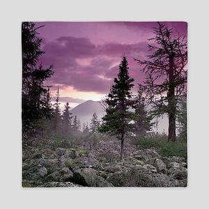 Beautiful Forest Landscape Queen Duvet