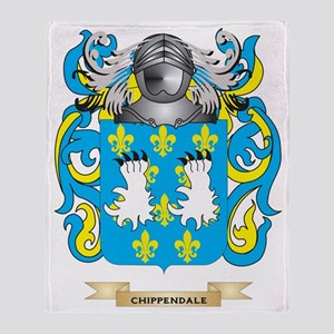 Chippendale Coat of Arms Throw Blanket