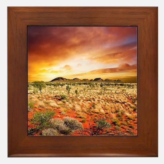 Australian Sunset Framed Tile