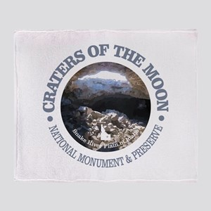 Craters of the Moon Throw Blanket