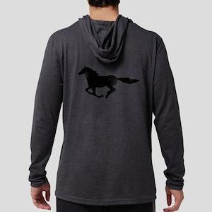 HORSE (black) Mens Hooded Shirt