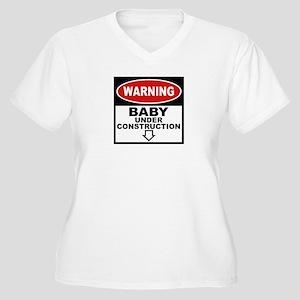 Baby Under Construction Women's Plus Size V-Neck T