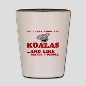 All I care about are Koalas Shot Glass