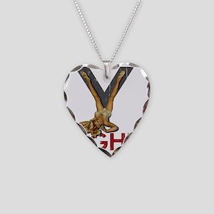 V8 ENGINE Necklace Heart Charm