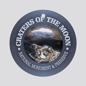 Craters of the Moon Round Ornament