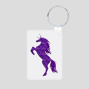 Purple Unicorn Keychains