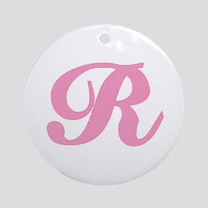 R Initial T-shirts Ornament (Round)