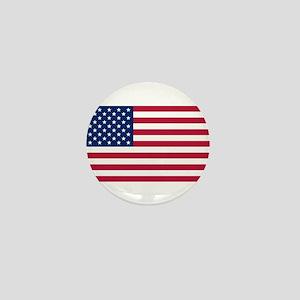 US Flag large Mini Button