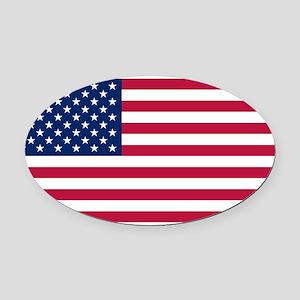 US Flag large Oval Car Magnet