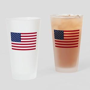 US Flag large Drinking Glass