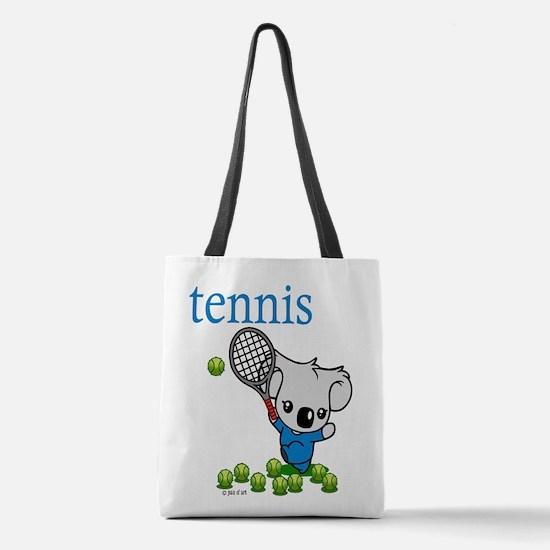 Tennis Koala Bear Polyester Tote Bag