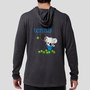 Tennis Koala Bear Mens Hooded Shirt