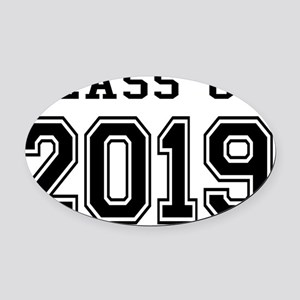 Class of 2019 Oval Car Magnet