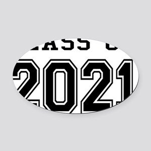 Class of 2021 Oval Car Magnet