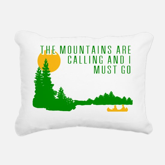 Mountains Are Calling Rectangular Canvas Pillow