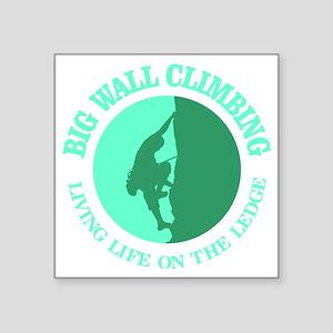 "Big Wall Climbing Square Sticker 3"" x 3"""