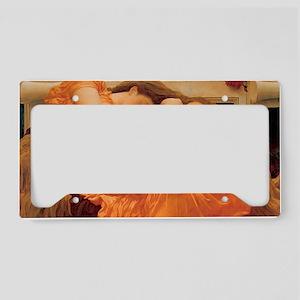 Flaming June-Rectangle Cropt License Plate Holder