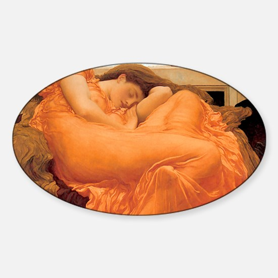 Flaming June-Rectangle Cropt Sticker (Oval)