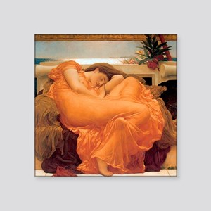 "Flaming June-Full Size Square Sticker 3"" x 3"""