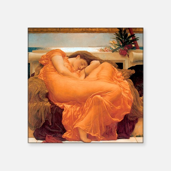 """Flaming June-Full Size Square Sticker 3"""" x 3"""""""