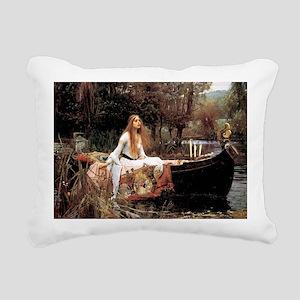 The Lady Of Shallot - 1- Rectangular Canvas Pillow