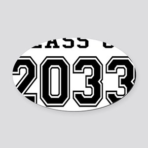 Class of 2033 Oval Car Magnet