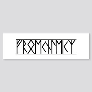 Valor Runes (Old Norse) Bumper Sticker