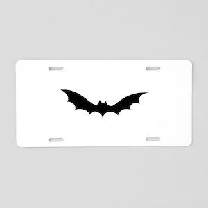 White bat halloween Aluminum License Plate