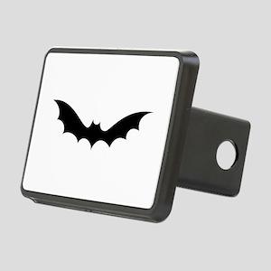White bat halloween Rectangular Hitch Cover