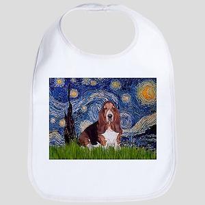Starry / Basset Hound Bib