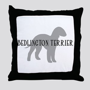 Bedlington Terrier Throw Pillow