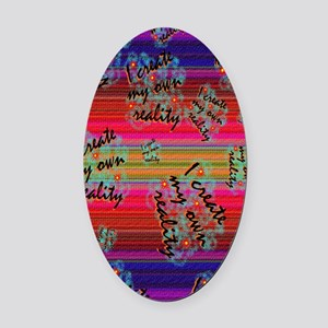 create reality Journal Oval Car Magnet