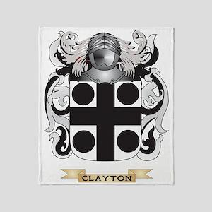 Clayton Coat of Arms Throw Blanket