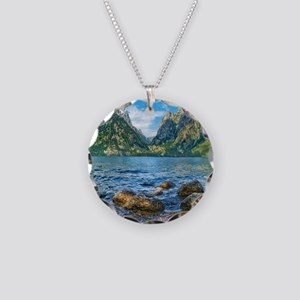 Grand Teton National Park Necklace Circle Charm