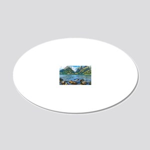 Grand Teton National Park 20x12 Oval Wall Decal