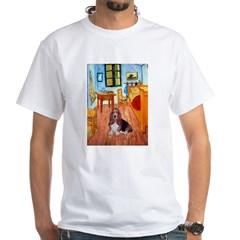 Room with a Basset White T-Shirt