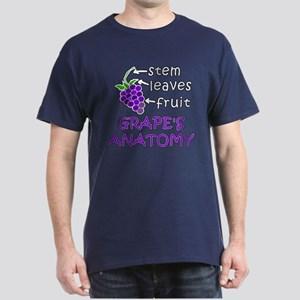 Grapes Anatomy Dark T-Shirt in 8 Colors and Black