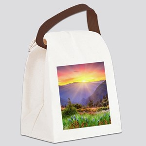 Majestic Sunset Canvas Lunch Bag